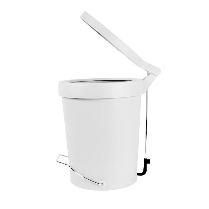 Treteimer Tip 7 Liter transluzent weiss