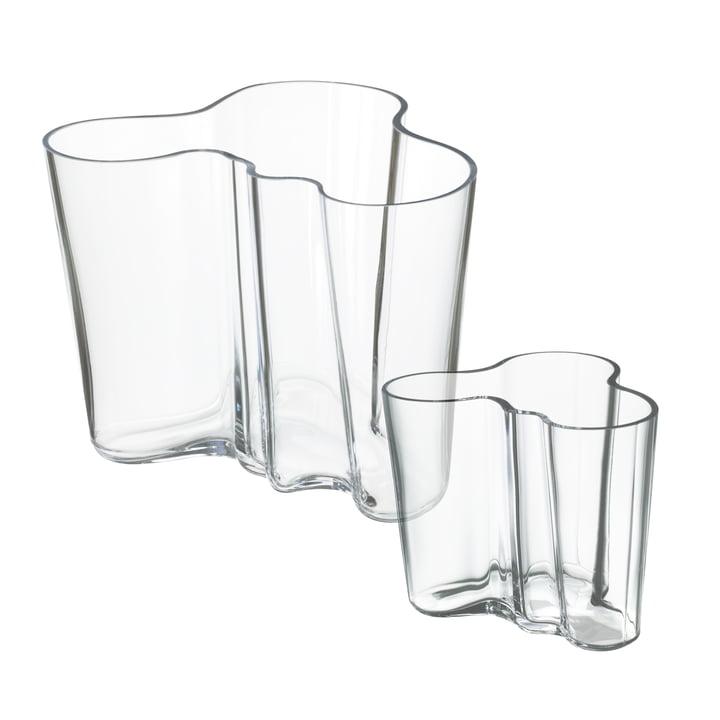 Aalto Vasen-Set 160 + 95 mm von Iittala in klar