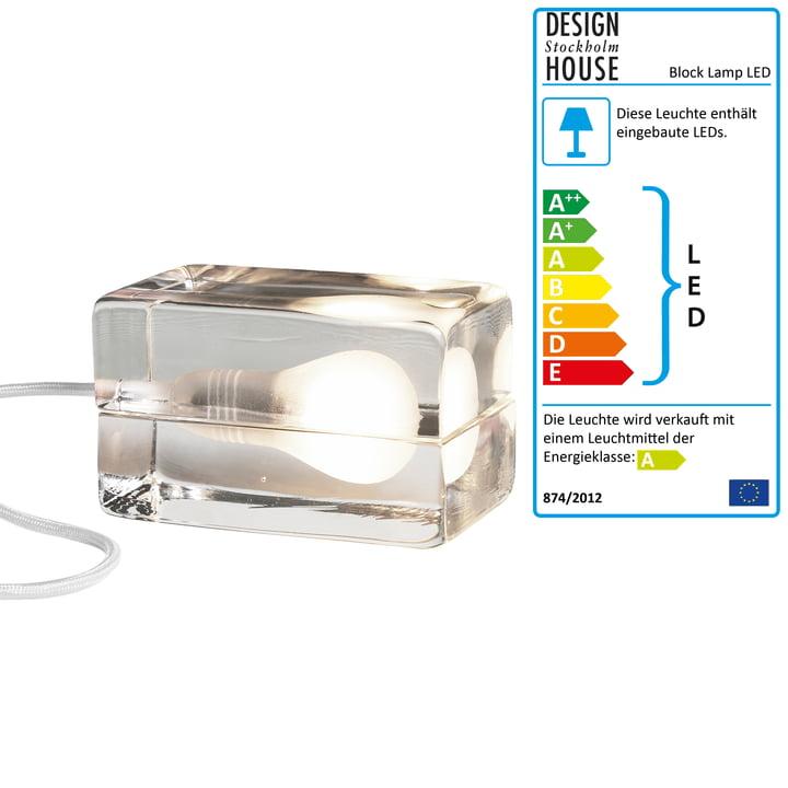 Block Lamp LED von Design House Stockholm in weiß