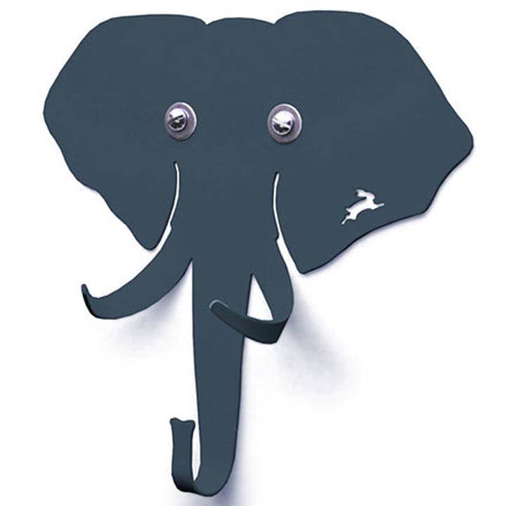 Haseform Tiergarderobe Elefant anthrazit