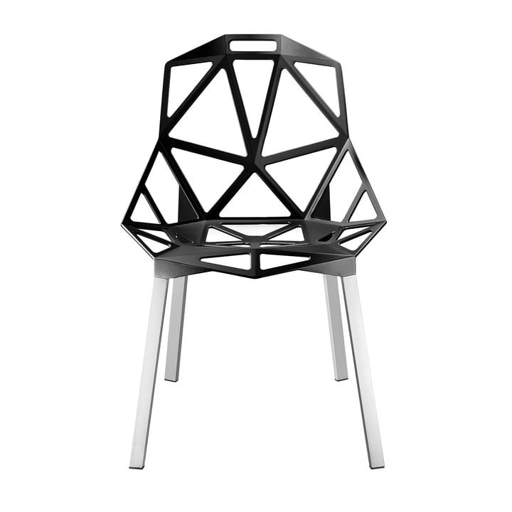 Chair One Stapelstuhl von Magis in Anthrazitgrau metallisiert