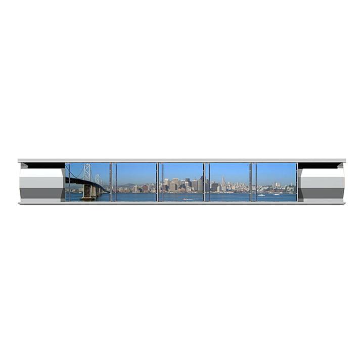 Lowkon - Sigmarail Aluminium CD Regalsystem (SR7), Einzelschiene