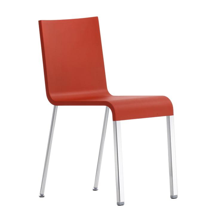 .03 Stuhl von Vitra in Silber/ Signalrot