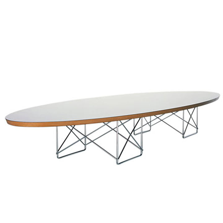 Elliptical Table - HPL weiss