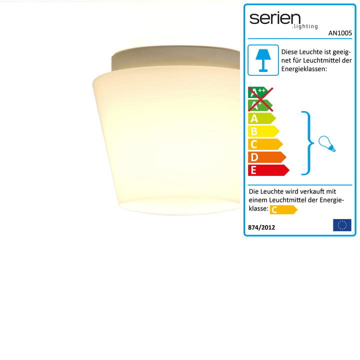 Annex ceiling lamp small glass shade: clear, without reflector