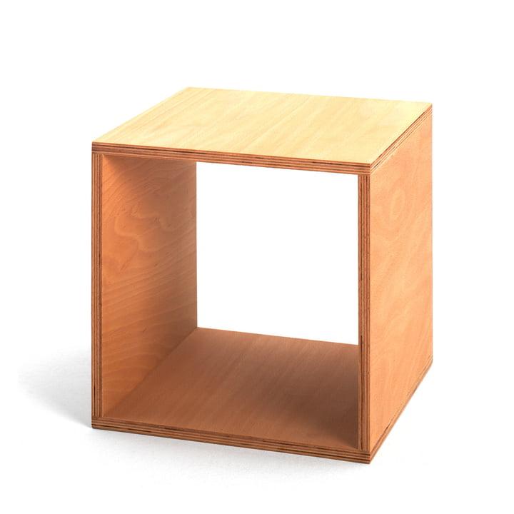 Tojo - Cube Nachttisch aus Buchenholz