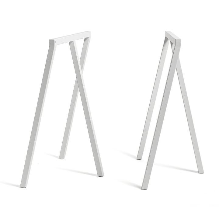Loop Tischböcke Stand Frame High von Hay in Weiß (2 Stück)
