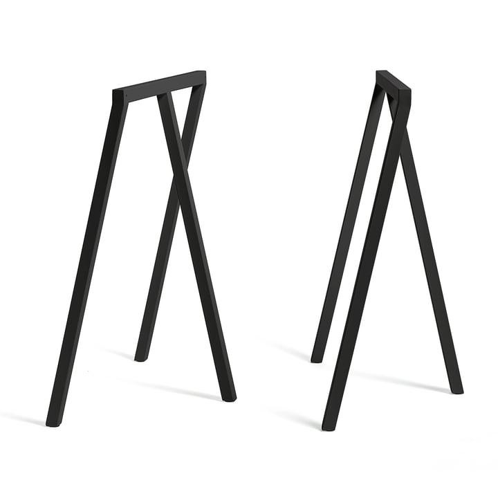 Loop Tischböcke Stand Frame High von Hay in Schwarz (2 Stück)