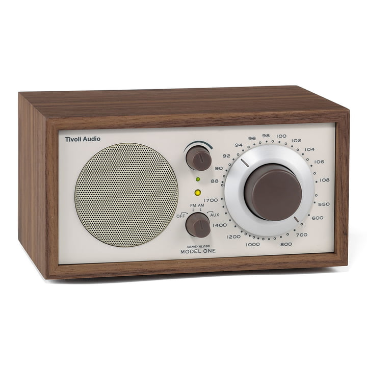 Model One Mono Radio - walnuss / beige