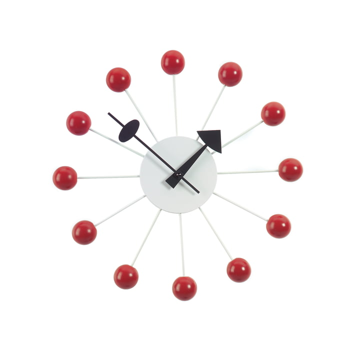 Ball Clock von Vitra in Rot