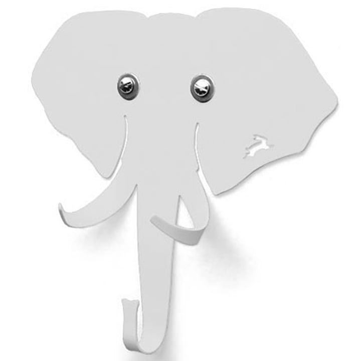 Haseform Tiergarderobe Elefant weiss