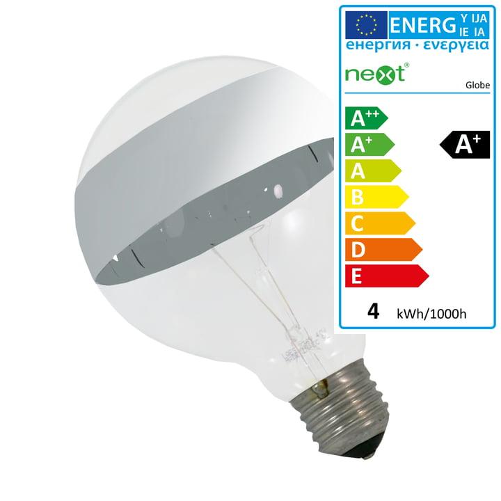 Globe LED-Leuchtmittel mit Spiegelstreifen, E27, 4W von Next Home