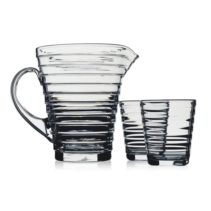 Iittala Aino Aalto Glaskrug mit Gläsern