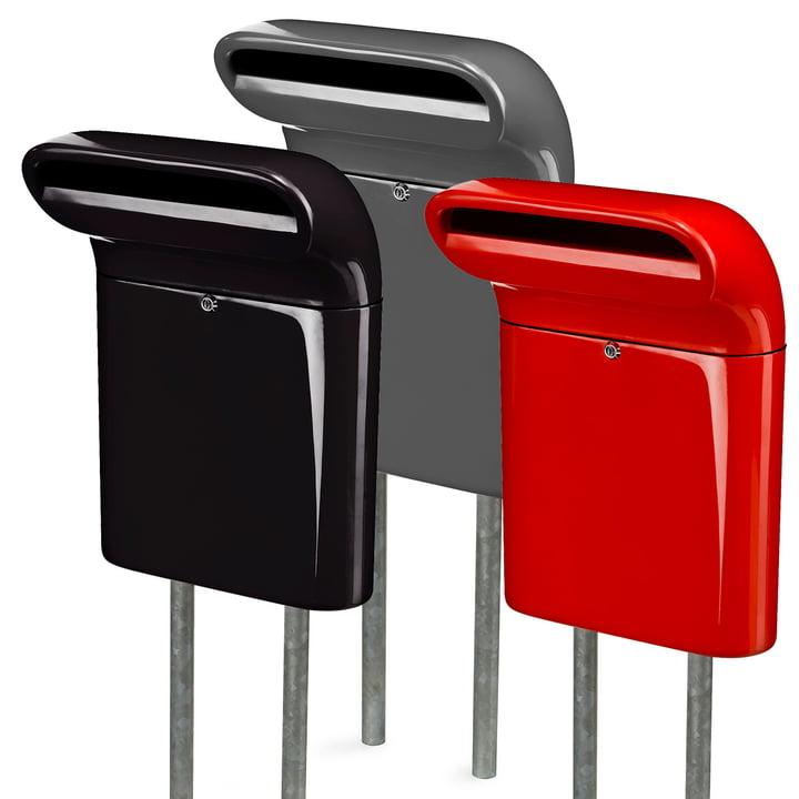 Born in Sweden - Mailbox S, schwarz, grau, rot