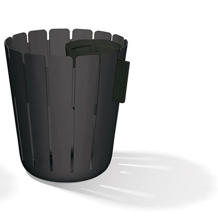 SL17 Basketbin Mülleimer-System - schwarz / schwarz