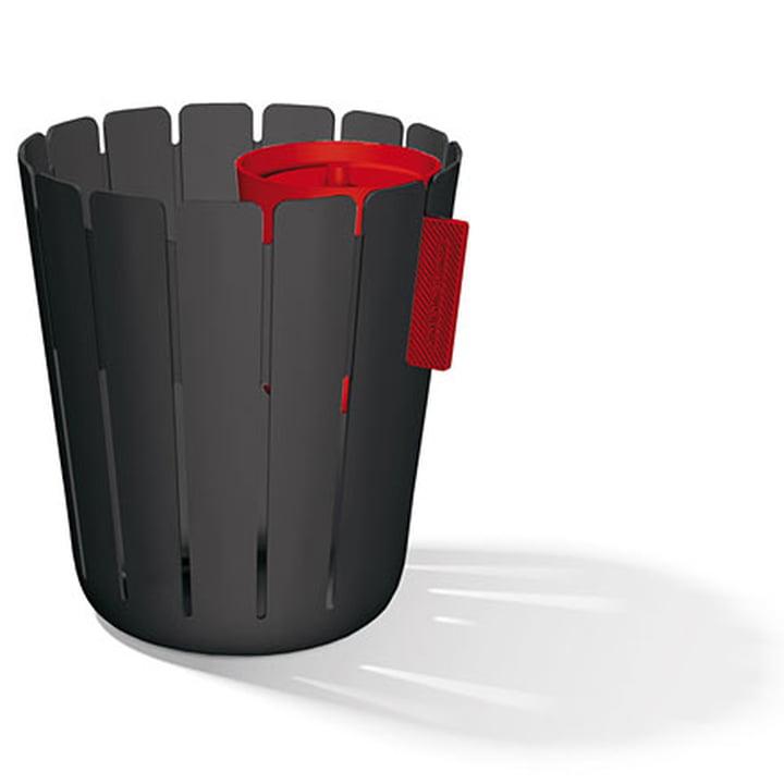 SL17 Basketbin Mülleimer-System - schwarz / rot