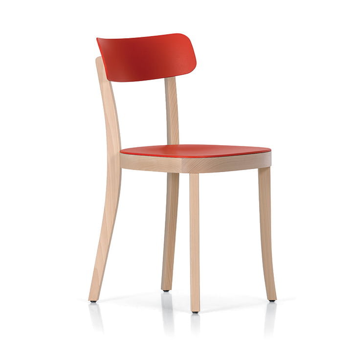 Vitra - Basel Chair, natur / backstein - Seitenansicht