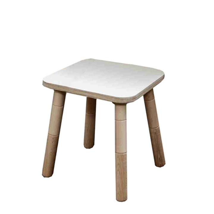 Growing Table - Hocker, HPL weiß