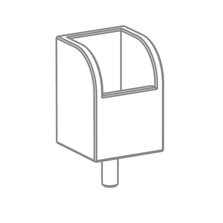 Growing Table - Stiftbox, HPL weiß