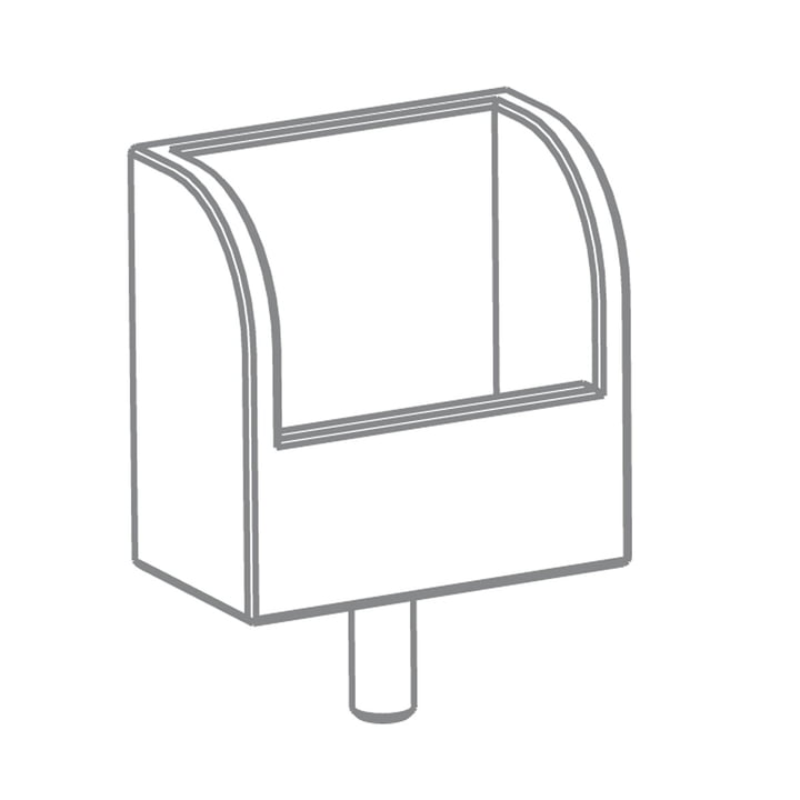 Growing Table - Zettelbox, HPL weiß