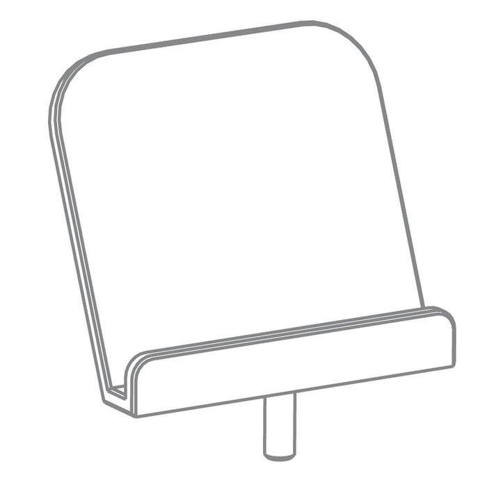 Growing Table - Buchaufsteller, HPL weiß