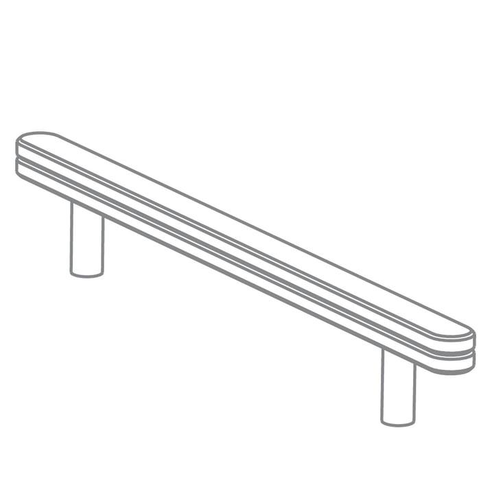 Growing Table - Schiene für Zeichenrolle, HPL weiß