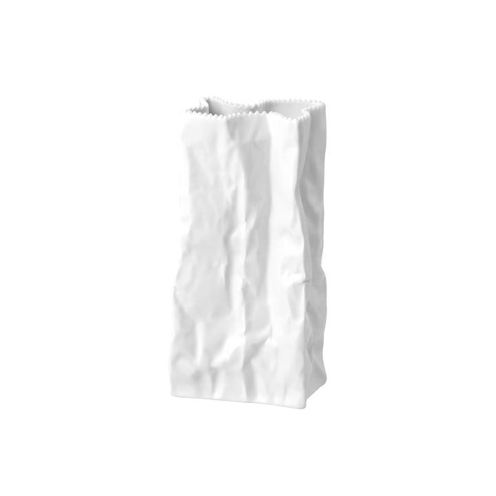 Rosenthal - Tütenvase, 22 cm, weiß glasiert