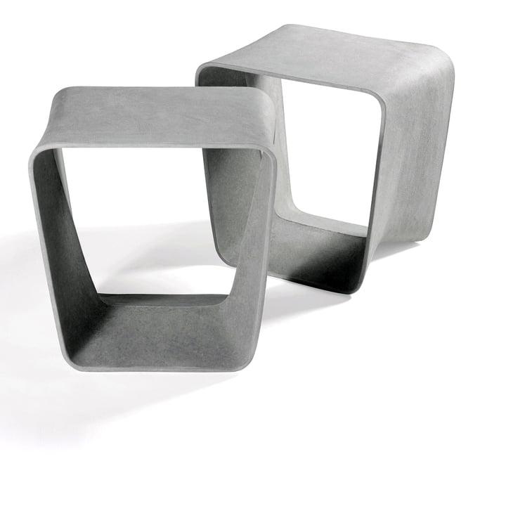Eternit - Ecal Hocker, Duo in Grau