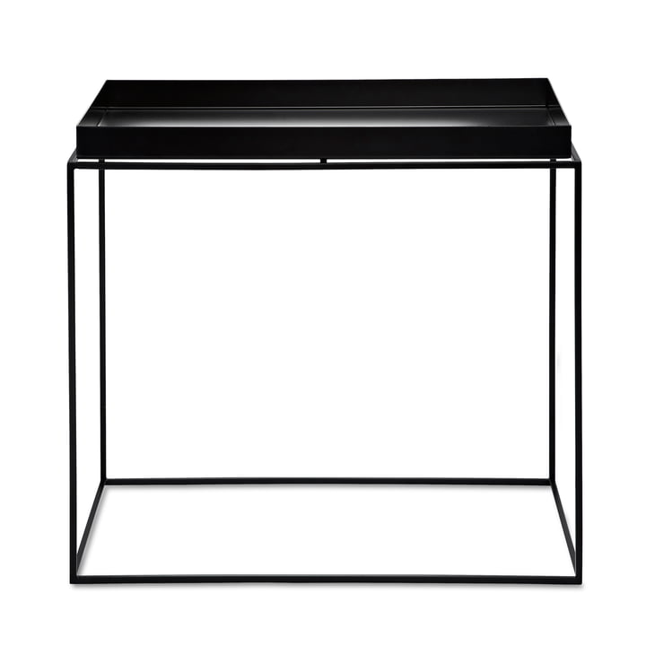 Tray Table 60 x 40 cm von Hay in Schwarz