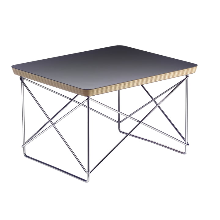 Eames Occasional Table LTR von Vitra in HPL Schwarz / chrom