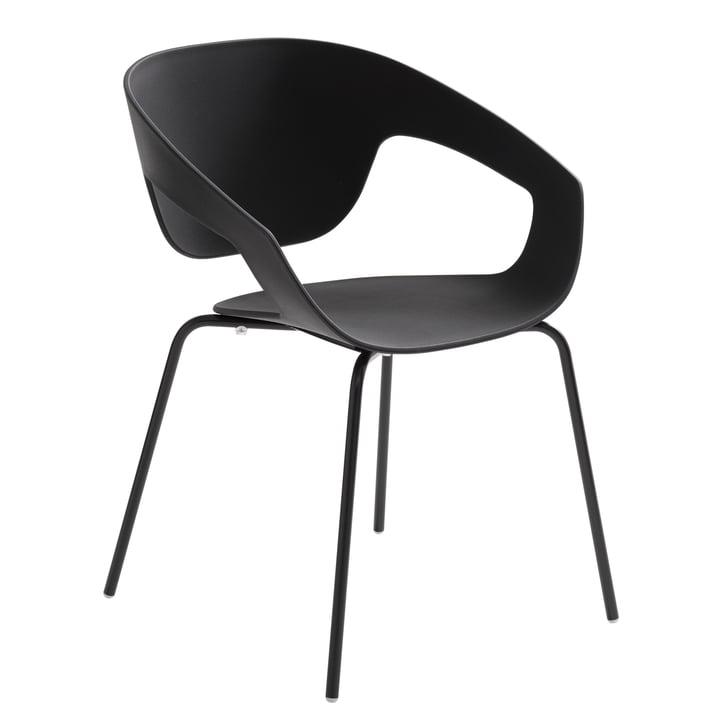 Casamania - Vad Stuhl mit Vierbeingestell in Schwarz