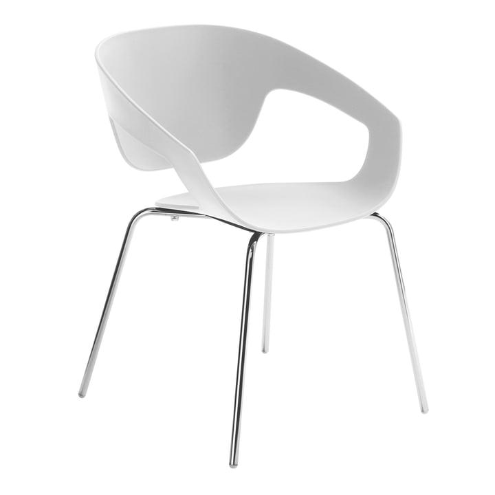 Casamania - Vad Stuhl in Weiß mit Vierbeingestell