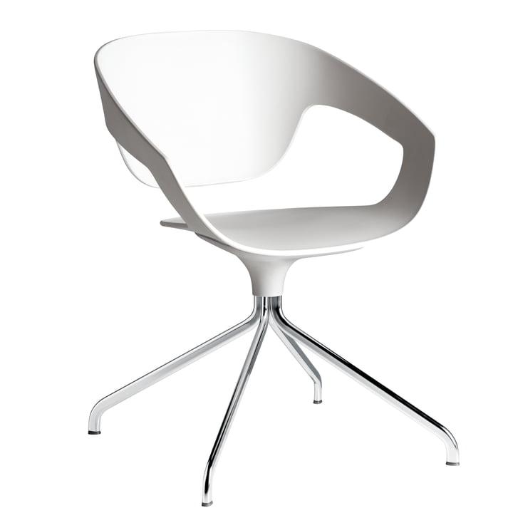 Casamania - Vad Stuhl in Weiß mit Drehgestell
