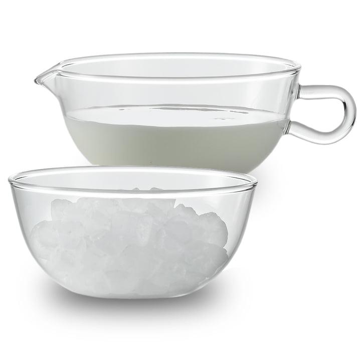 Jenaer Glas - Wagenfeld Sahnegießer und Zuckerschale