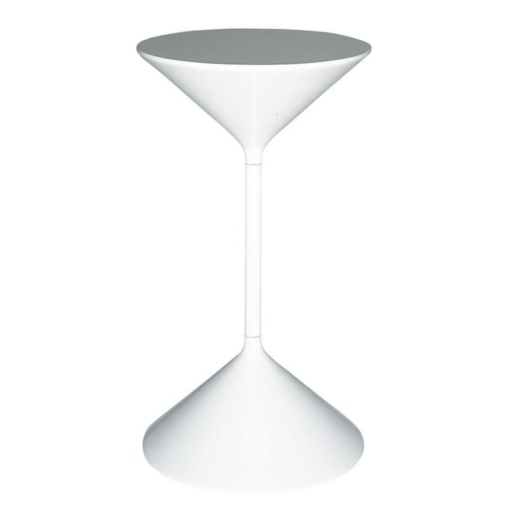 Tempo Beistelltisch H 50 cm von Zanotta in weiß
