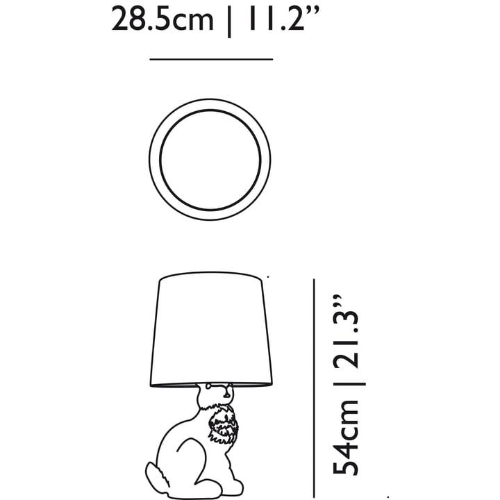 Moooi - Rabbit Lamp, Abmessung