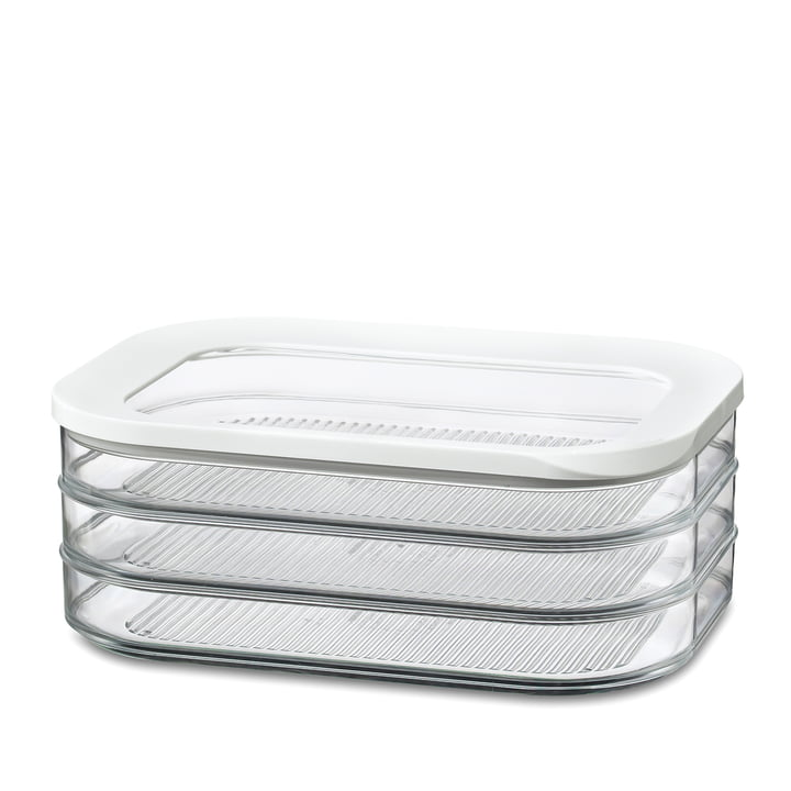 Modula Kühlschrankdose Aufschnitt 550/3 von Rosti Mepal in Weiß