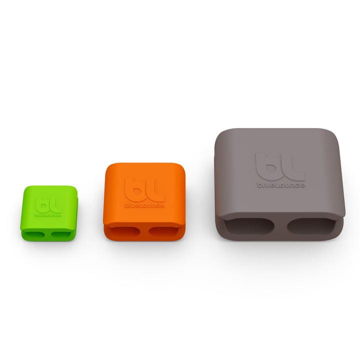 Bluelounge - CableClip, alle drei Größen im Vergleich