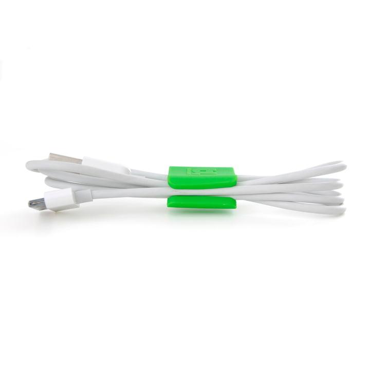 Bluelounge - CableClip, small, grün, seitlich