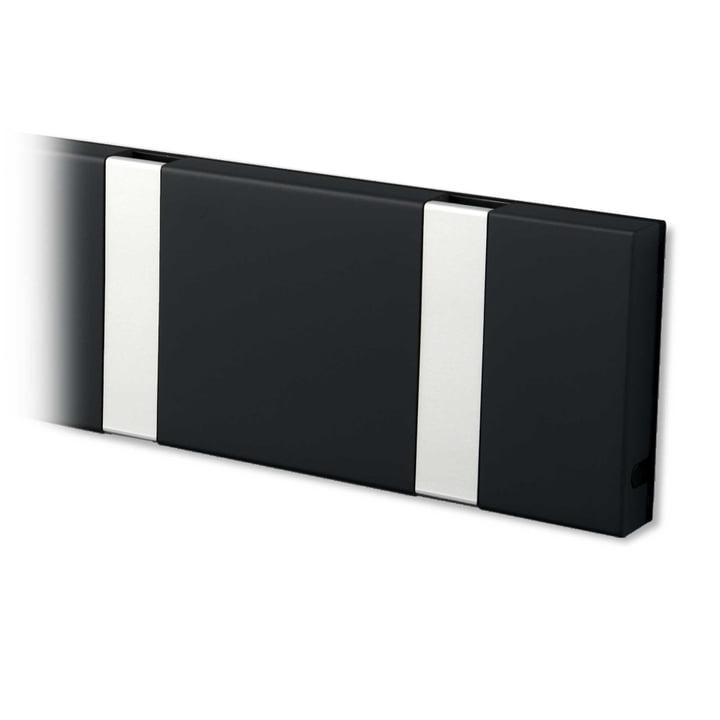 Knax Garderobenleiste von LoCa in schwarz / grau
