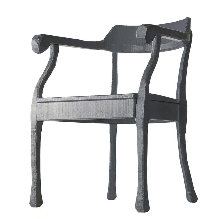 Raw Lounge Chair von Muuto in dunkelgrau