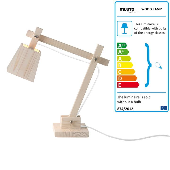 Wood Lamp von Muuto mit Kabel in Weiß