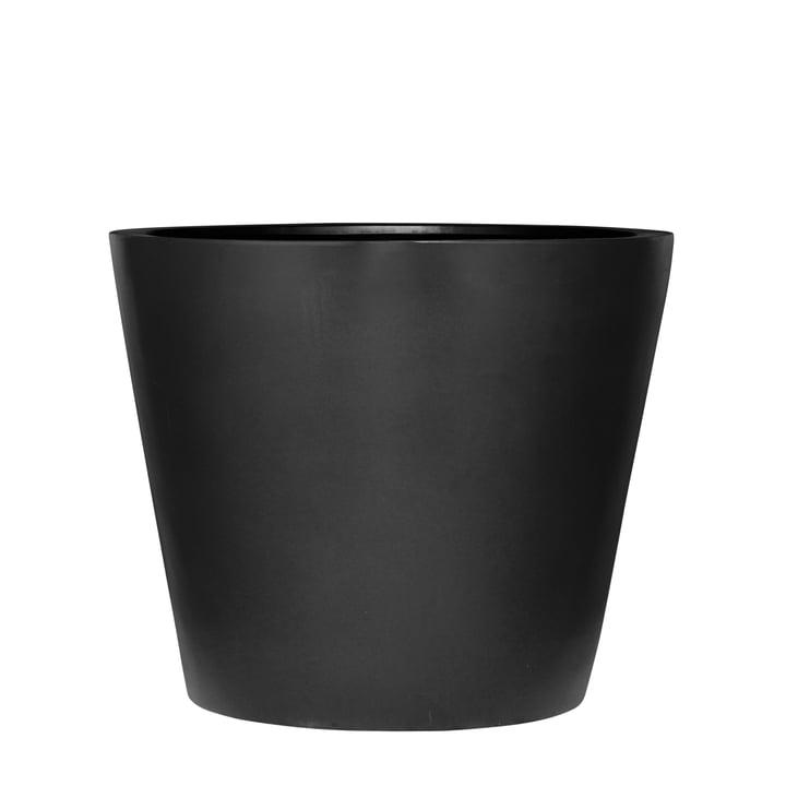 amei - Der Runde Pflanzgefäß, M, schwarz