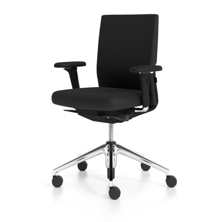 ID Stuhl Soft von Vitra in nero / Aluminium poliert