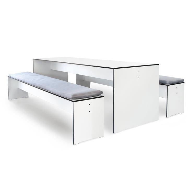Conmoto - Riva Indoor- und Outdoor Möbel - Set weiß