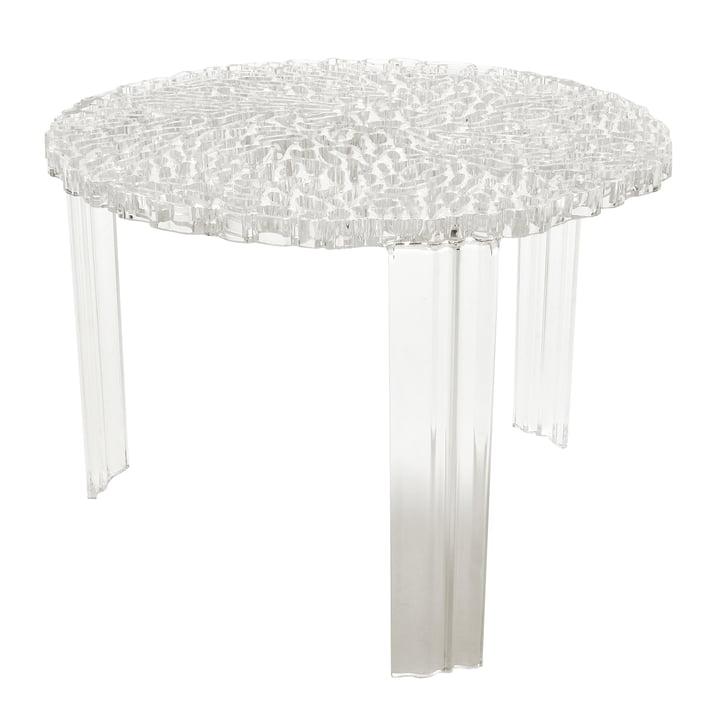 Kartell - T-Table, H 36 cm, glasklar