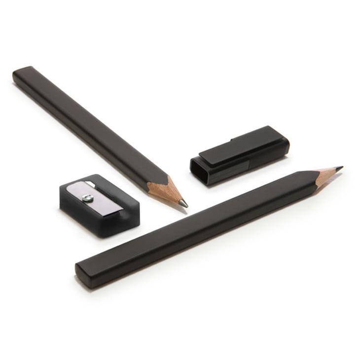 Moleskine - Bleistift-Set mit Anspitzer und Kappe