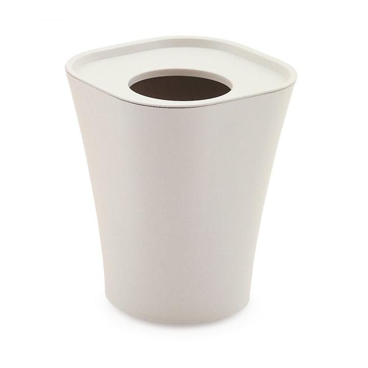 Trash Papierkorb groß von Magis in weiß