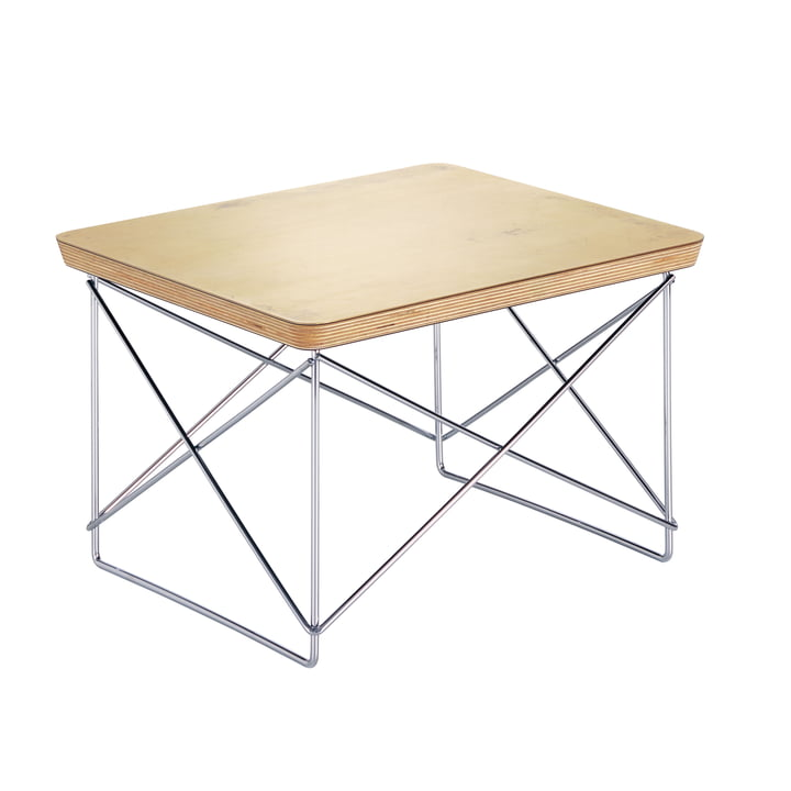 Eames Occasional Table LTR von Vitra in Blattgold / chrom