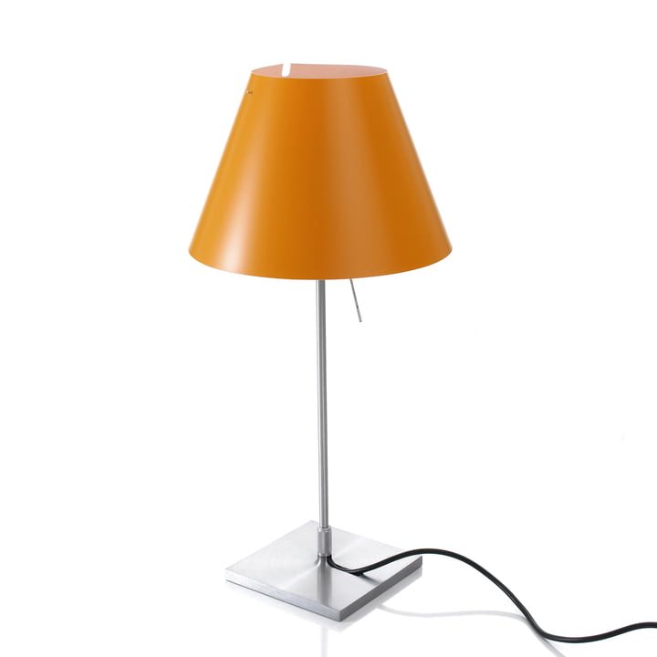 Luceplan - Costanzina Tischleuchte 1D13 LED, aluminium / orange
